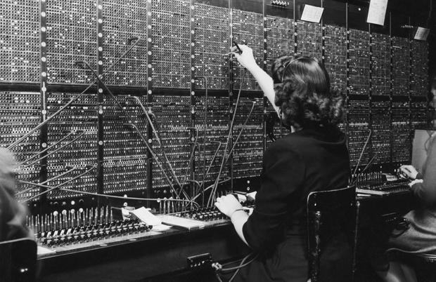 A telephone switchboard operator.